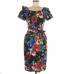 Rickie Freeman Teri Jon floral dress